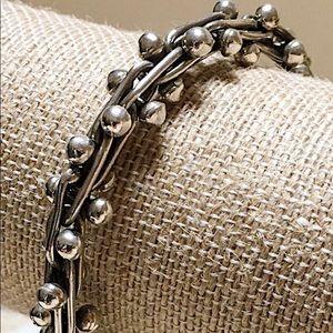 SILPADA 'DNA' Sterling Bracelet Fit 7.5 Wrist 80gm